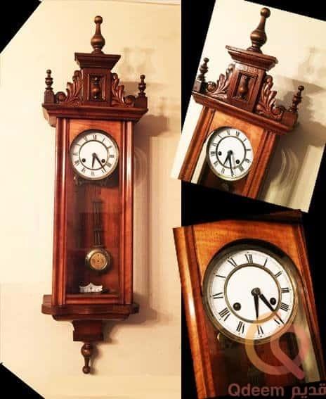 """ساعة حائط خشب""""خرط"""" المانى ماركة – Junghans"""