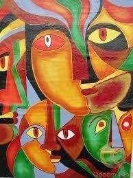 افضل لوحات من معرض الفن التجريدى العربى للفنان محمود عثمان